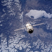 8. ISS after separation from the Space Shuttle Atlantis over Mongolia