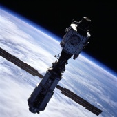 9. ISS in post-undocking view