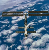 21. ISS following undocking at 1:13 p.m. (CST), December 9, 2000