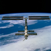 22. First imagery of the entire station with its new solar array panels deployed