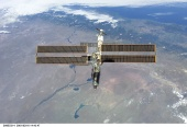 23. ISS backdropped against the Rio Negro, Argentina, following undocking