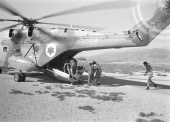 Six Day War:  Wounded soldiers are evecuated in Sinai