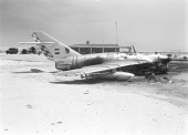 Six Day War: Destroyed Egyptian plane