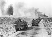 Six Day War: IDF forces advancing into Sinai