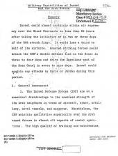 Six Day War: CIA Analysis of the 1967 Arab-Israeli War