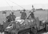 Six Day War:  IDF forces in the Syrian front
