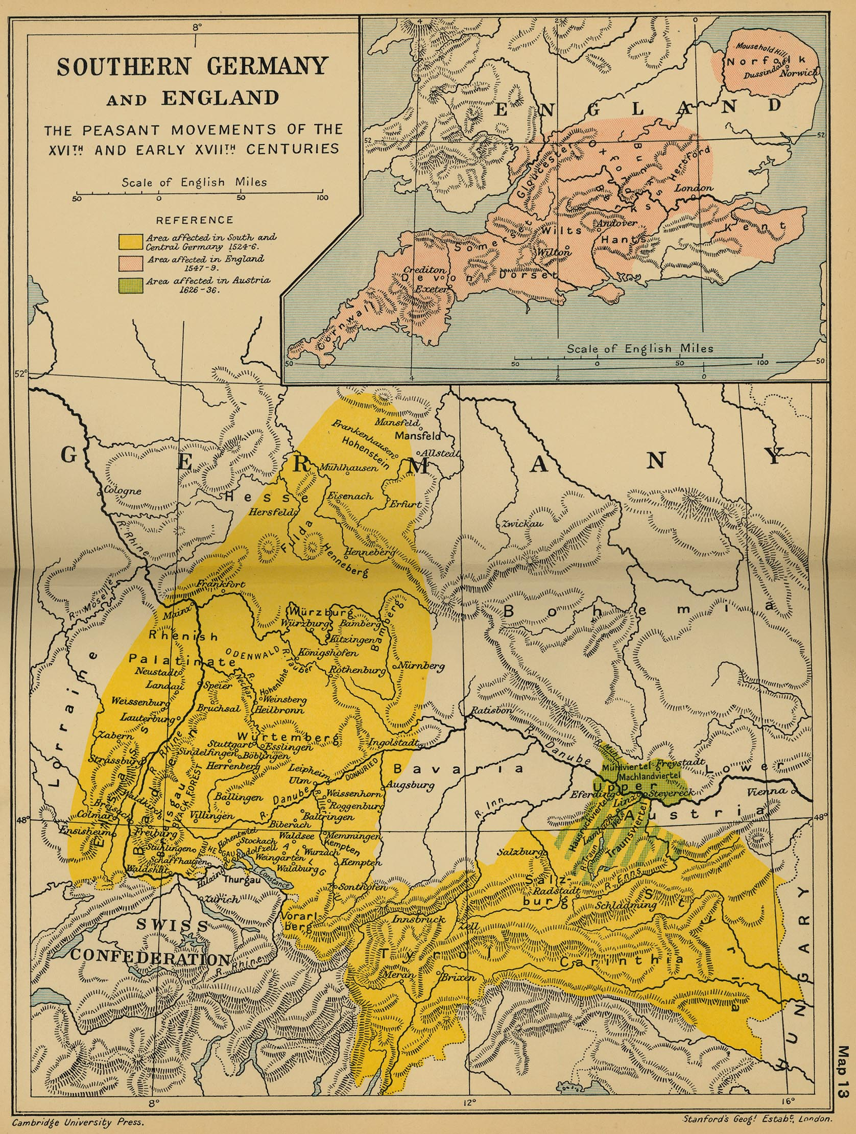 Map Of England Germany.Peasant Movements Germany And England 1524 1636 Cosmolearning