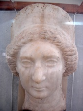 Persian bust belonging to wife of Farhad IV, excavated in Shush.
