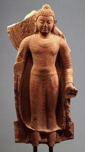 Buddha Offering Protection, from India (Uttar Pradesh, Mathura)