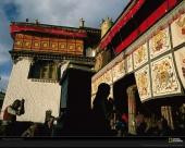 Buddhist Pilgrims, Jokhang Temple, Lhasa, Tibet, 2000