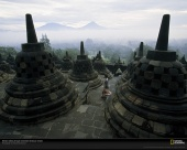 Borobudur Temple, Java, Indonesia, 2001