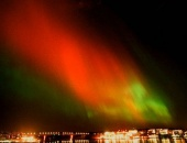 Aurora borealis over Stockholm. April 6, 2000
