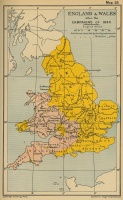 England and Wales after the Campaigns of 1644