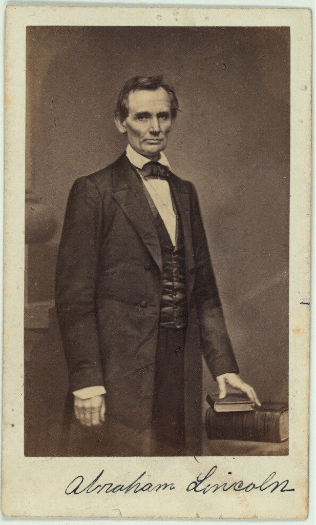 Abraham Lincoln (February 27, 1860)  Photographer: Mathew B. Brady Date: February 27, 1860 Place: New York, NY  James Wadsworth Family Papers. Library of Congress Manuscript Division. Reproduction Number: LC-MSS-44297-33-001
