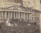 Large Crowd Photographed at Lincoln's First Inaugural