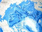Arctic Ocean map - relief of the oceanic floor