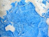 Pacific Ocean map - relief of the oceanic floor