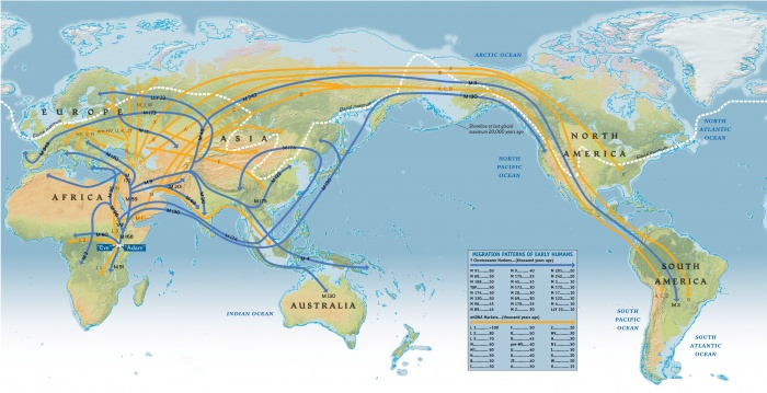 Migration Patterns of Early Humans