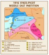 1916 Sykes Picot Middle East Partition