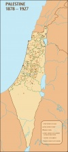 Palestine 1878 - 1927 - Palestinian villages, towns and Zionist settlements