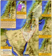 Map: Palestine in Biblical Times