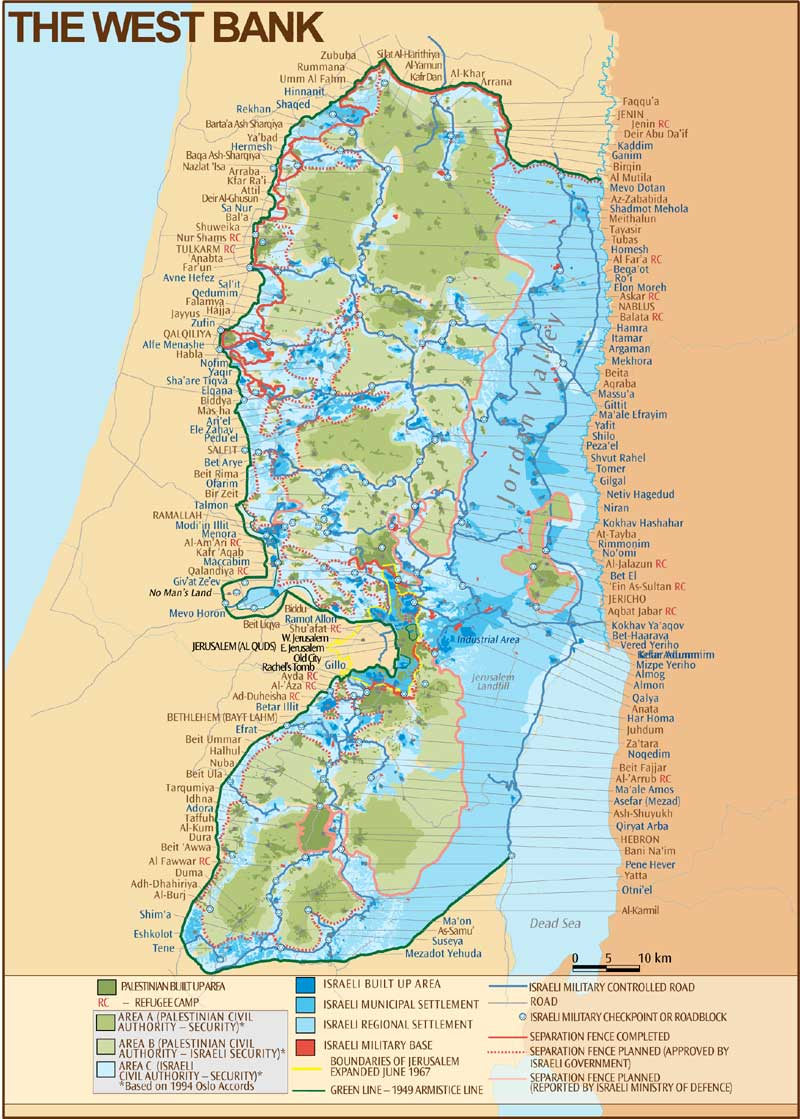 West Bank Map CosmoLearning History - Us checkpoints map