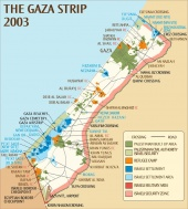 Gaza Strip Map, 2003