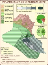 Iraq Demographics - Religious & Ethnic Regions, and Population Density in Iraq