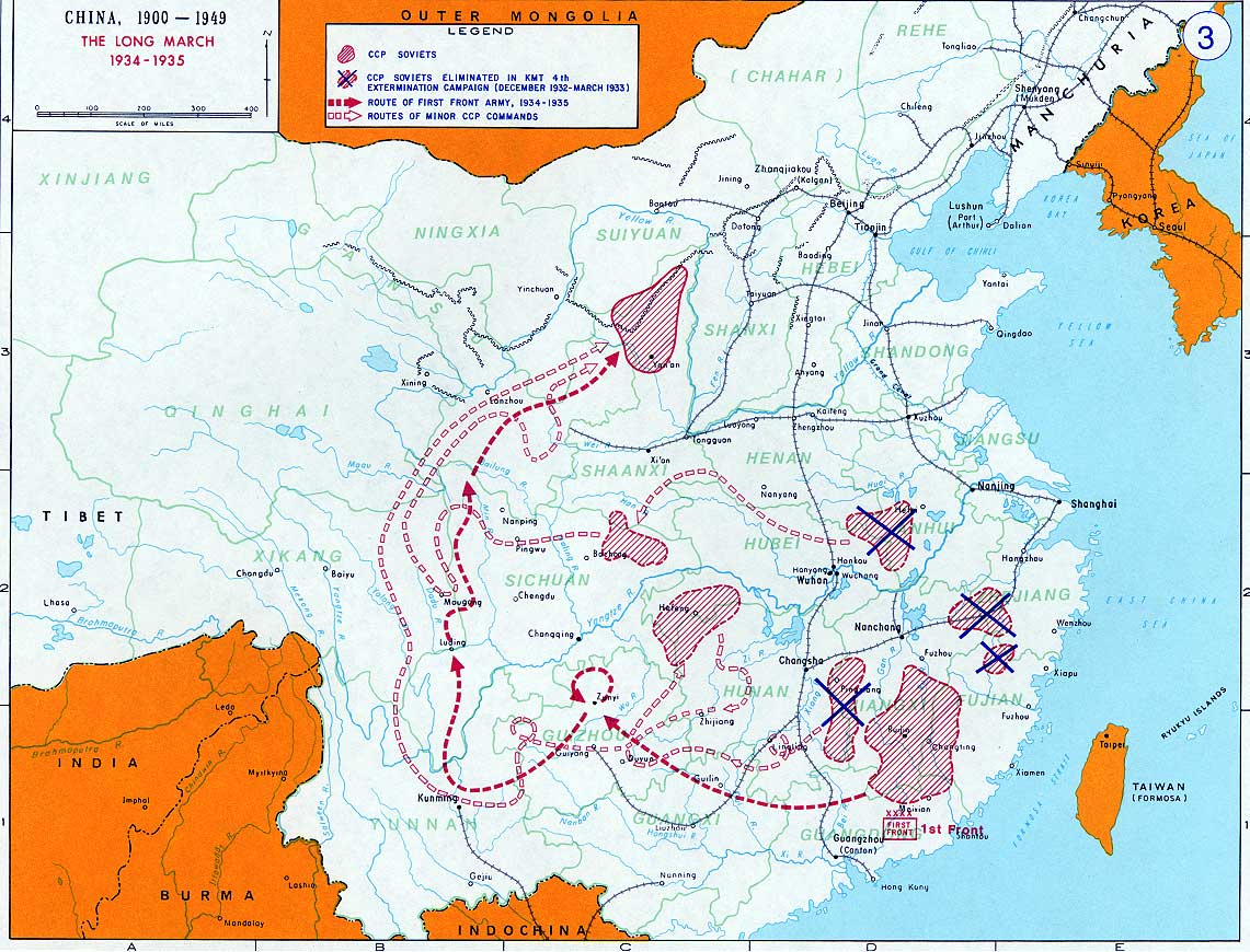 Hasil gambar untuk long march mao