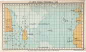 Atlantic Ocean according to Toscanelli (1474)