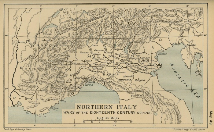 Northern Italy: Wars of the Eighteenth Century 1701-1763