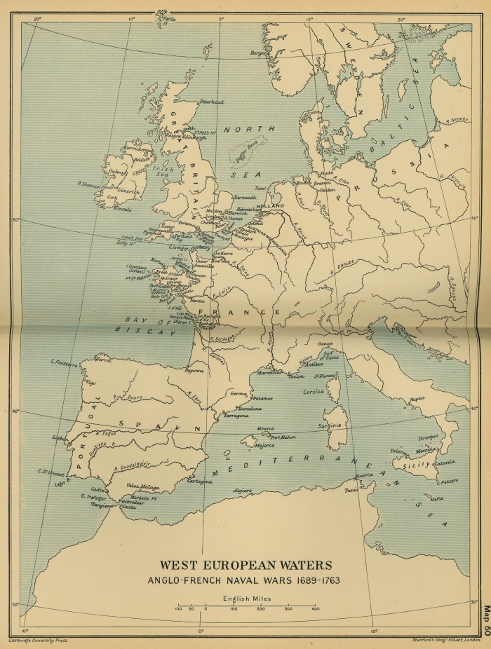 West European Waters: Anglo-French Naval Wars 1689-1763