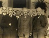 Albert A. Michelson, Albert Einstein and Robert A. Millikan