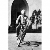 Einstein on a bicycle