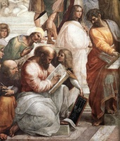Pythagoras in detail: Raffaello's The School of Athens