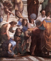 Euclid in detail: Raffaello's The School of Athens