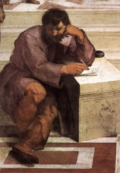 Heraclitus in detail: Raffaello's The School of Athens