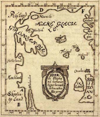 The Skálholt-map made by the icelandic teacher Sigurd Stefansson in the year 1570