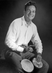 Richard Feynman on his bongos
