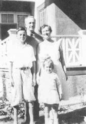 The Feynmans, Richard, Melville, Lucille, and Joan (courtesy of Joan Feynman, Richard's sister)