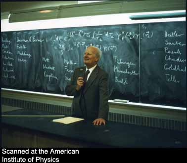 Hans Bethe lecturing at Dalhousie University, October 15, 1978  Source: http://photos.aip.org/images/page1/bethe_hans_b22.jpg