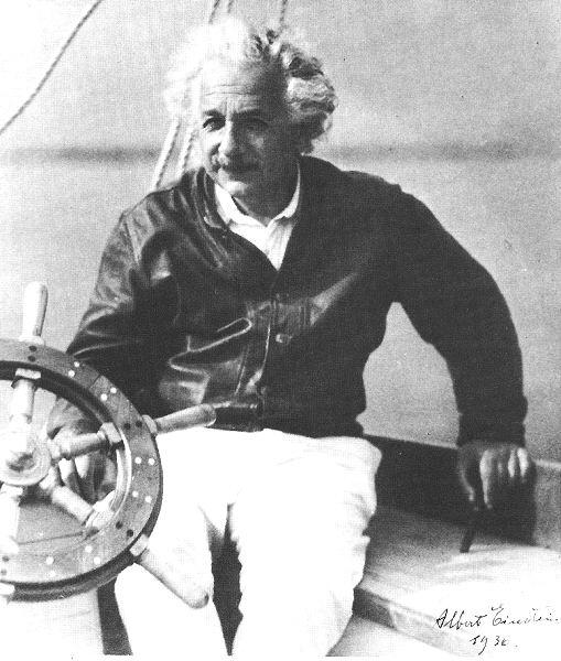 Einstein sailing