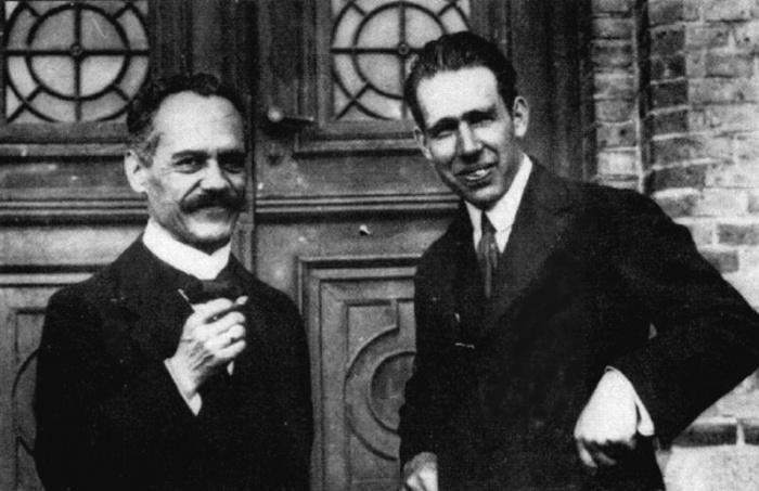 Sommerfeld & Bohr  Source: http://th.physik.uni-frankfurt.de/~jr/gif/phys/bohrsomm.jpg