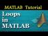 Loops in MATLAB