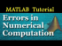 Errors in Numerical Computation