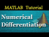Numerical Differentiation in MATLAB