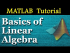 Basics of Linear Algebra