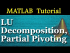 LU Decomposition and Partial Pivoting