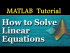 How to Solve Linear Equations