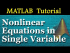 Nonlinear Equations in Single Variable